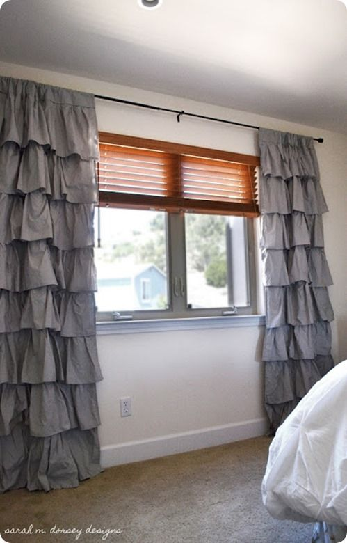 Turn Sheets into Ruffled Curtains..cute