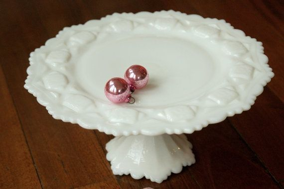 Westmoreland Glass Old Quilt Milk Glass Cake Stand : old cake plates - pezcame.com