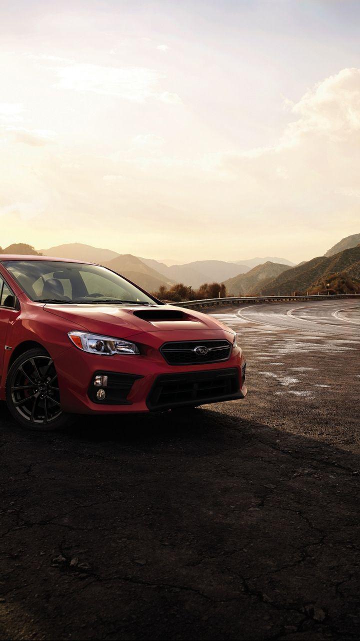 2018, Subaru WRX, Sports Sedan, red car, 720x1280 wallpaper