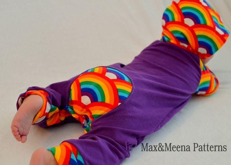 Rompaloones maxaloones NB-3 t Cloth diaper barboteuse hoodie PDF pattern par maxandmeena sur Etsy