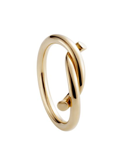 Cartier intertwined ring in pink gold - Cartier Les Must ring - Women's rings…