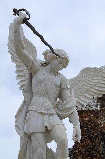St. Michael watching over America and Israel. ♡ Thank you for your protection!