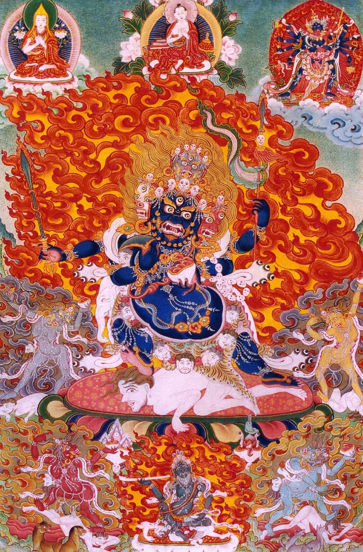 During a super form, flames would emit from my character's body, much like Mahakala in Tibetan Buddhism.