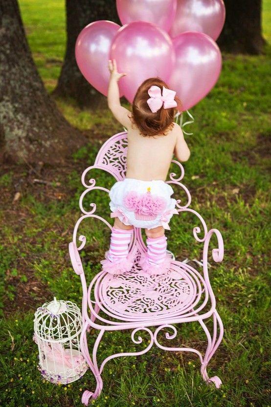 Baby girl's 1st Birthday! Love this....minus the leg warmers!