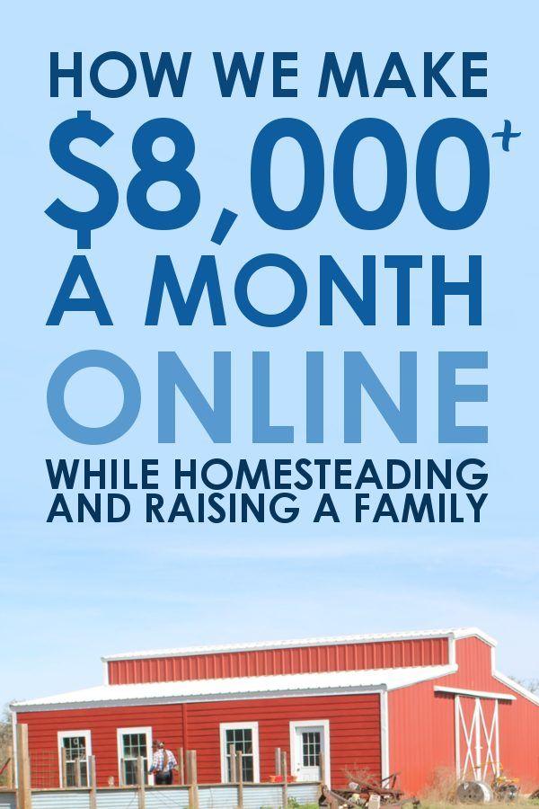 Auf diese Weise verdienen wir jeden Monat über 8.000 US-Dollar online, während wir …   – Homesteading with A Modern Homestead