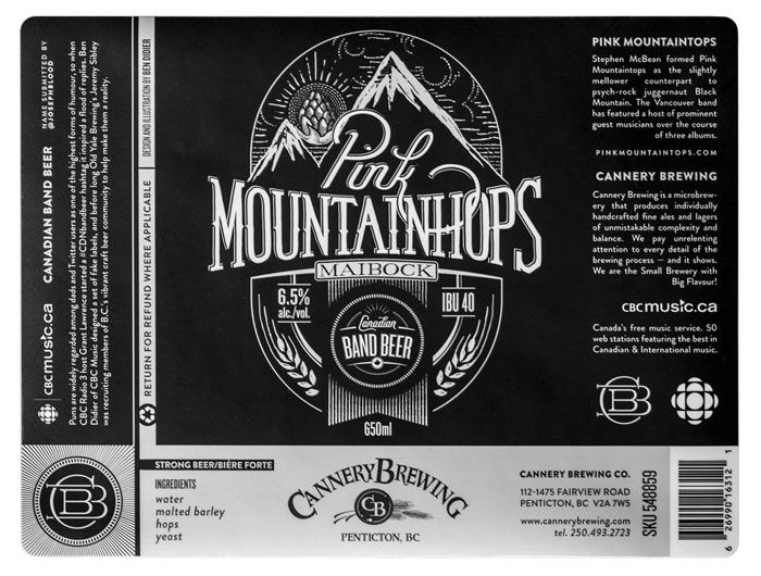 """I took the joke too far by designing a set of labels for some of the fictitious brews, published on CBC Music. Before long Old Yale Brewing's Jeremy Sibley was recruiting members of B.C.'s vibrant craft beer community to help make them a reality, "" said Ben Didier."