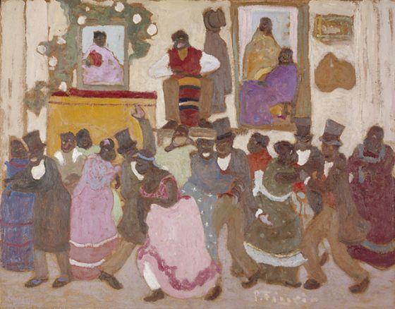 Dancing People: (Candombe) (Personas bailando: [Candombe]) | Pedro Figari (Uruguay, 1861-1938) | LACMA Collections