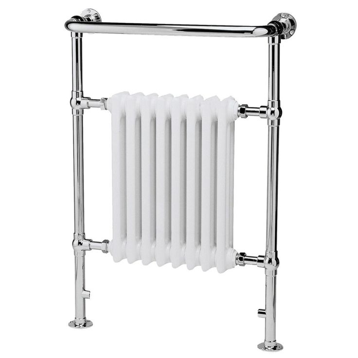 Hudson Reed - Chrome & White Finchley Radiator - 965 x 673mm - LDR001 A luxurious traditional radiator from Hudson Reed, chrome plated with 8 x 3 column white period style radiator insert. Manufactured to the highest standards and constructed from strong chrome plated durable steel. Designed to complement Hudson Reed's collection of classic bathroom sanitary ware and furniture. Beautifully engineered by Hudson Reed to integrate into any traditional bathroom. Features quality construct...