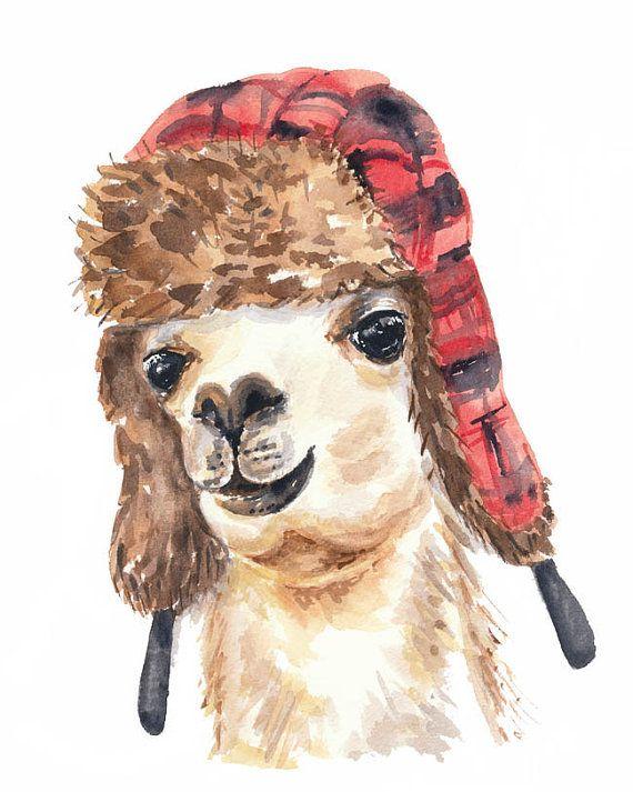 Titre : Trappeur Lama  George ne pourrait pas être originaire du Canada mais avec son chapeau de trappeur spiffy quil sinscrit en plein. Aussi, il