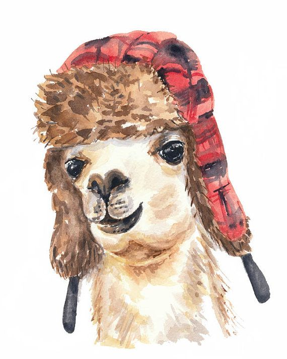 Title: Trapper Llama  George decided to visit Toronto during one of the worst winters in decades. His spiffy new trapper hat lets him blend in