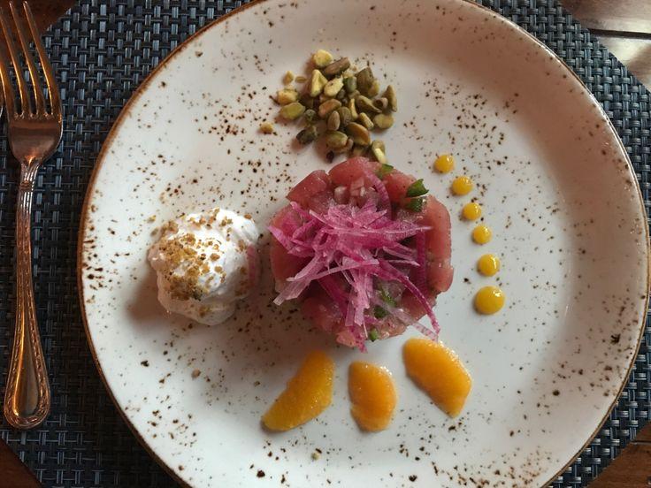 Tuna Poke at Entrada restaurant at Gateway Canyons Resort & Spa in Gateway, Colorado