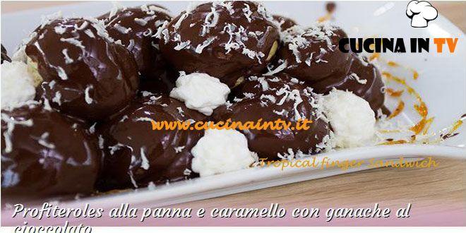 Profiteroles alla panna e caramello con ganache al cioccolato ricetta Antonio da Bake Off Italia | Cucina in tv