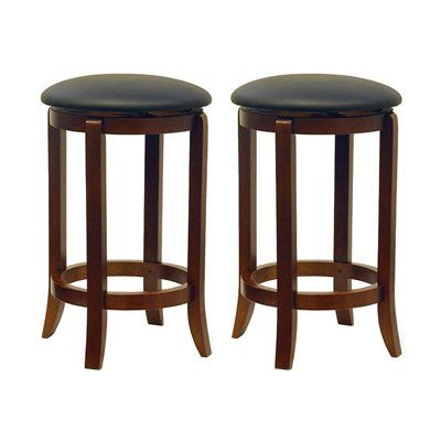 Winsome Wood 946 Faux Leather Swivel Bar Stool (Set of 2)  Faux Leather Swivel Bar StoolComfy faux leather seat. Set of two.Comes fully assembled.Counter: