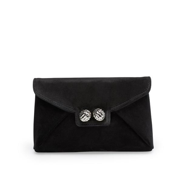 Black clutch <3 Find more info about Heather clutch on www.leowulff.com #leowulff #bag #clutch #black