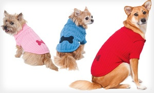 Groupon - Lookin' Good! Bone Patch Dog Sweater (Up to Half-Off). Multiple Sizes and Colors Available. Free Returns. in Online Deal. Groupon deal price: $10.00