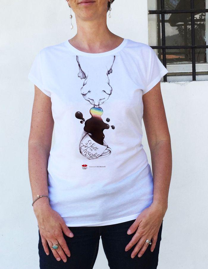 T-shirt Fall in chocolat