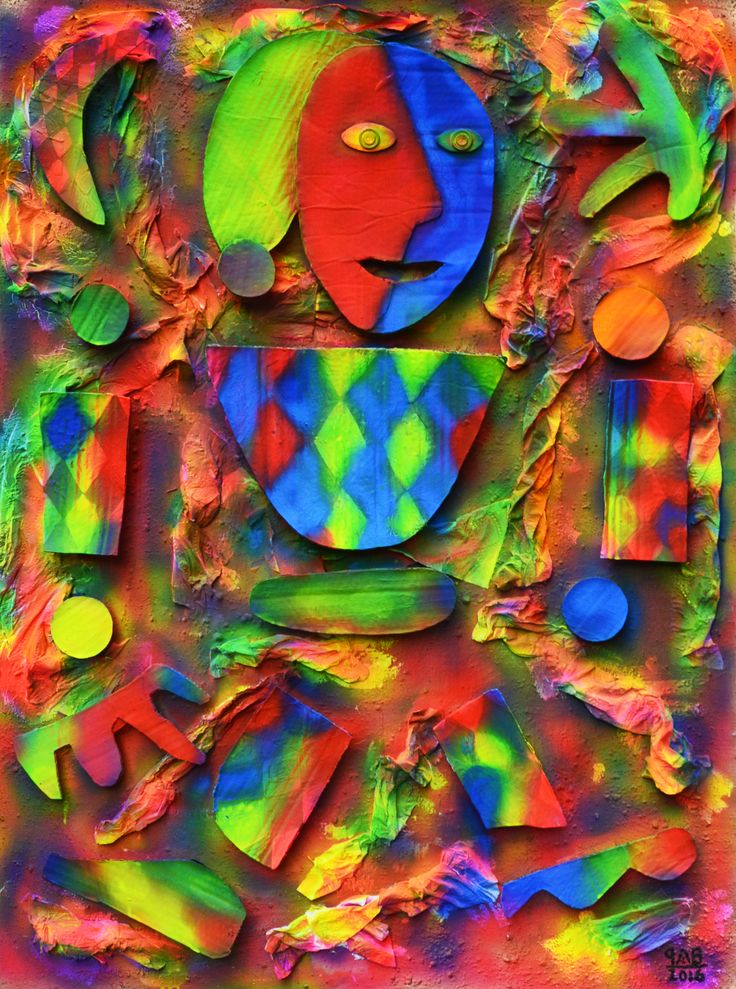 Payaso Rompecabezas Neón / Neon Puzzle Clown Light Off 2016 105 x 78 cm Técnicas mixtas / Mixed techniques