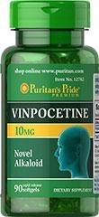 Vinpocetine 10 mg     Used in Europe for years, Vinpocetine is a chemically distinct substance that plays a role in supporting cerebral circulation and cognitive function.**