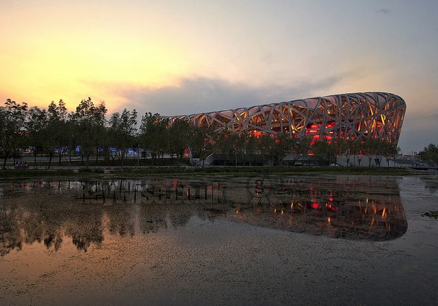 #Beijing Olympic sunset
