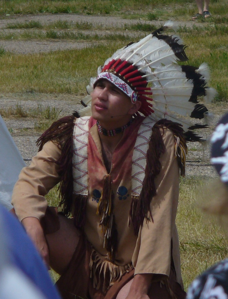 A reenactor portrays the great Lakota Sioux Chief Sitting Bull at the 2012 production of The Medicine Line.  http://www.inkwellinspirations.com/2012/08/the-medicine-line-outdoor-show.html