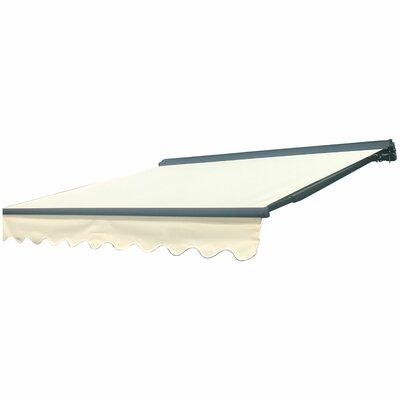 Aleko Sunshade Half Cassette Retractable Patio Awning Wayfair Patio Awning Patio Sun Shades Patio Flooring