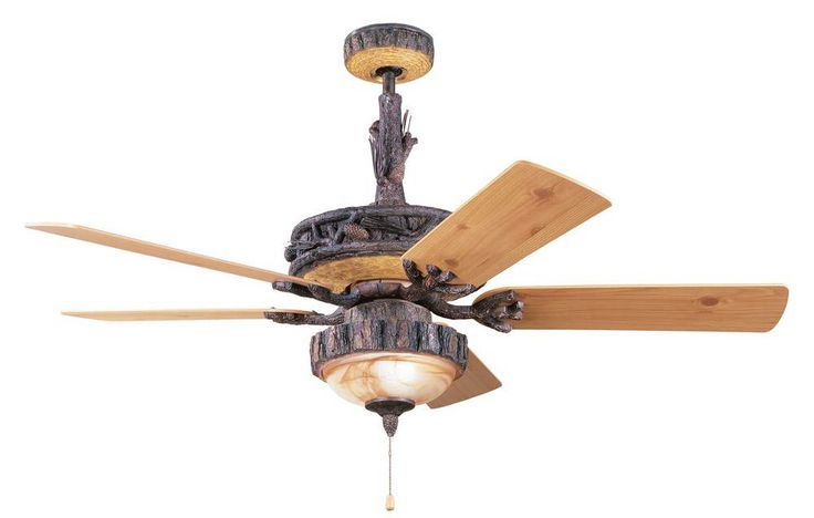 rustic ceiling fans with lights