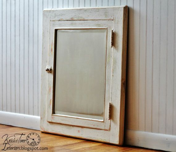 Antique Farmhouse Medicine Cabinet Mirror Frame - available from KnickofTime on Etsy