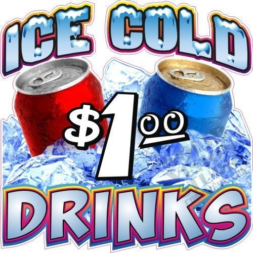 24 Quot Ice Cold Drinks Soda Pop Cool Concession Trailer Food