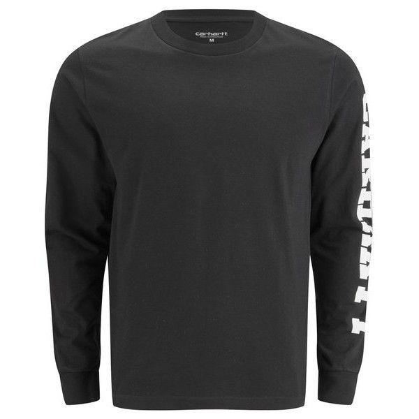 Carhartt Men's Long Sleeve College Left Arm Logo Detail T-Shirt -... (5590 RSD) ❤ liked on Polyvore featuring men's fashion, men's clothing, men's shirts, men's t-shirts, mens t shirts, mens long sleeve shirts, mens long sleeve cotton shirts, j crew mens shirts and mens longsleeve shirts