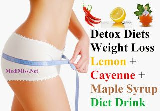Detox Diets – Weight Loss Lemon + Cayenne + Maple Syrup Diet Drink ~ MediMiss