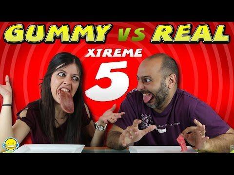 GOMINOLAS vs COMIDA REAL CHALLENGE EXTREMO 5| Real Food VS Gummy XTREME 5 - YouTube