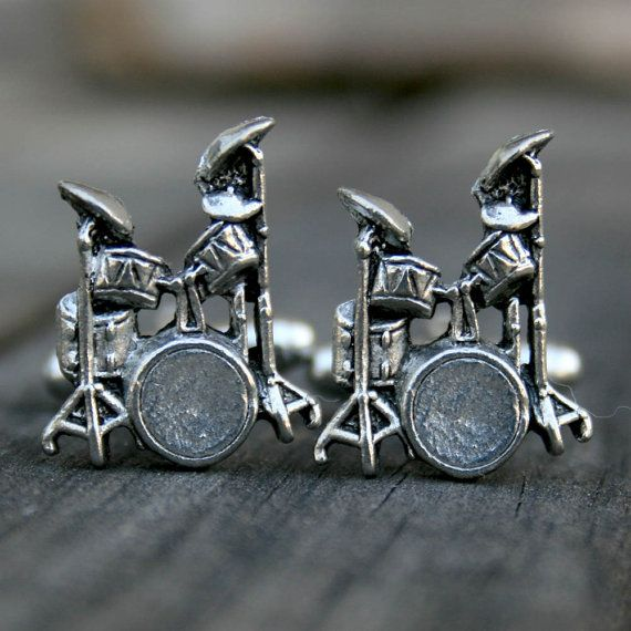 Hey, I found this really awesome Etsy listing at http://www.etsy.com/listing/57932320/cufflinks-drum-set