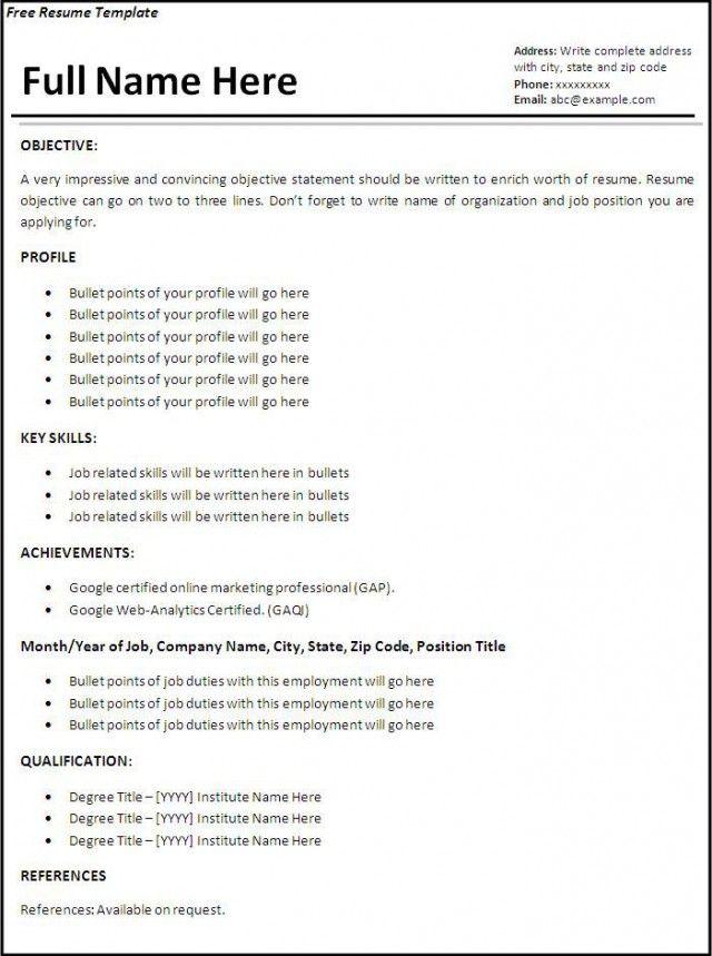 1 Job First Job Resume Job Resume Examples Job Resume Format