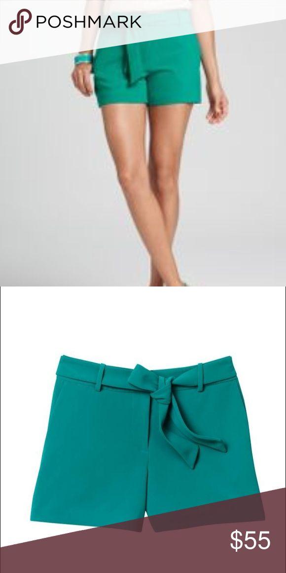 Ann Taylor resort shorts with tie belt aqua green New with tags Anne Taylor resort shorts with removable tie belt in aqua green Ann Taylor Shorts