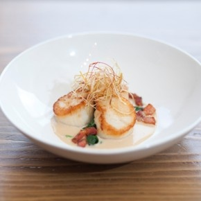 You can try the Seared Qualicum Beach Scallops at Edible Canada's Viking Stage event!