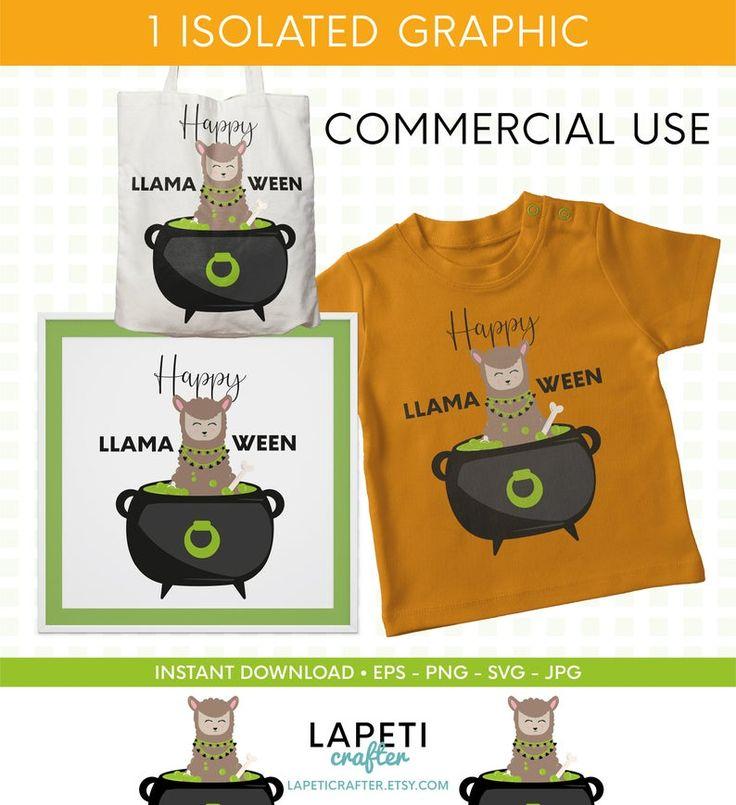 Feliz Llamaween, clipart llama en Halloween, humor de ...