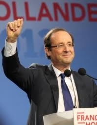 The new President of France .  Francois Hollande ! Congratulations !