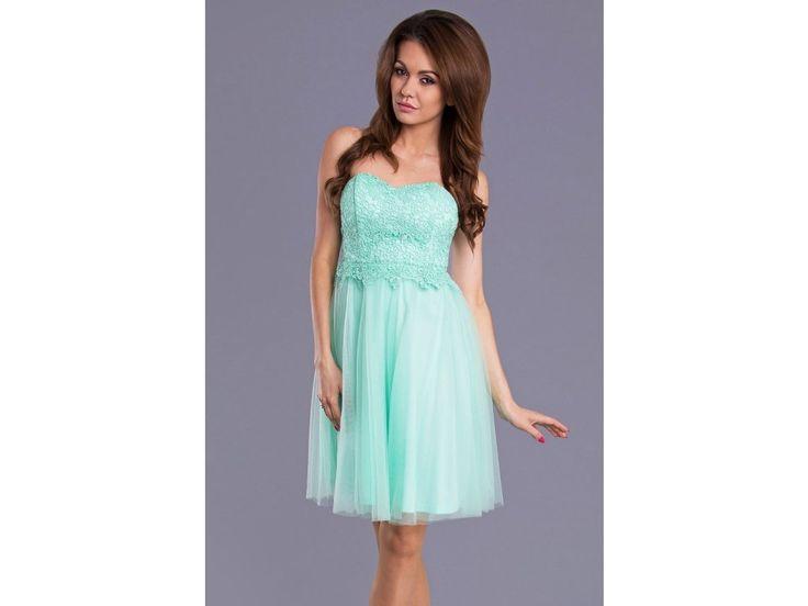 Mint prom dress, brand EMAMODA PARIS. Společenské šaty EMAMODA PARIS skladem na www.bestmoda.cz
