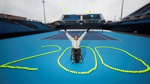 Eton Manor, with distinctive blue courts, is the only new one designed to be used only for Paralympic competition.