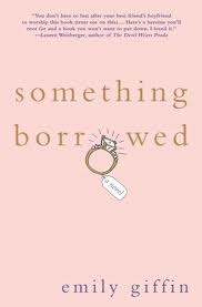 Something Borrowed by Emily Griffin.  Emily Griffin's books are great vacation easy reading