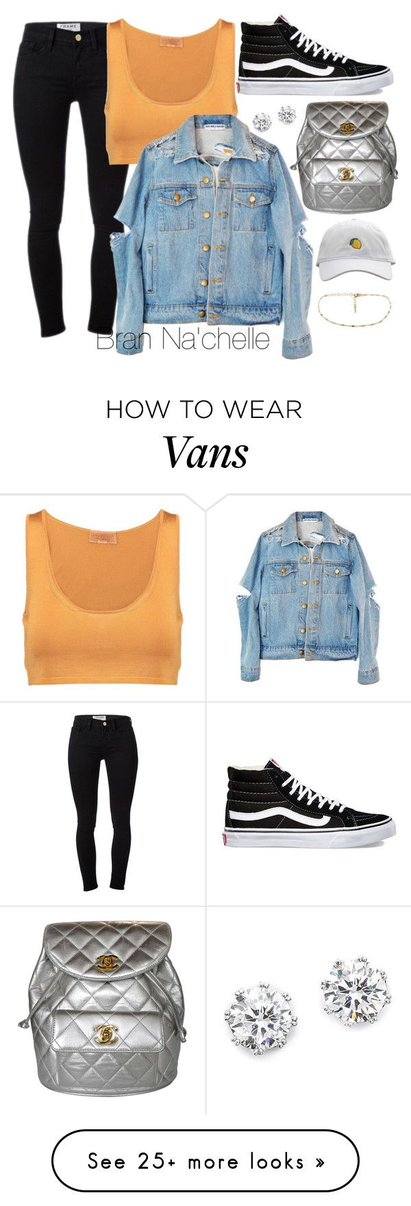 """Untitled #1237"" by brannachelle on Polyvore featuring Kenneth Jay Lane, Frame, Giambattista Valli, Vans and Chanel"