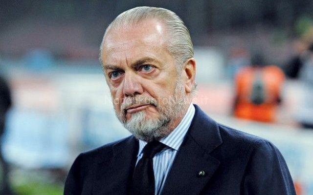 Napoli, il presidente ADL a Castelvolturno per caricare i suoi per la trasferta di domenica con l'Inter #napoli #inter #calcio #seriea #figc
