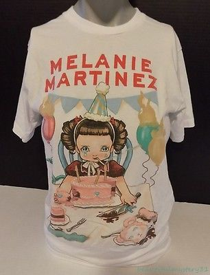 "Melanie Martinez ""Pity Party"" Cry Baby Graphic Hot Topic Tee T-Shirt Top -S-"