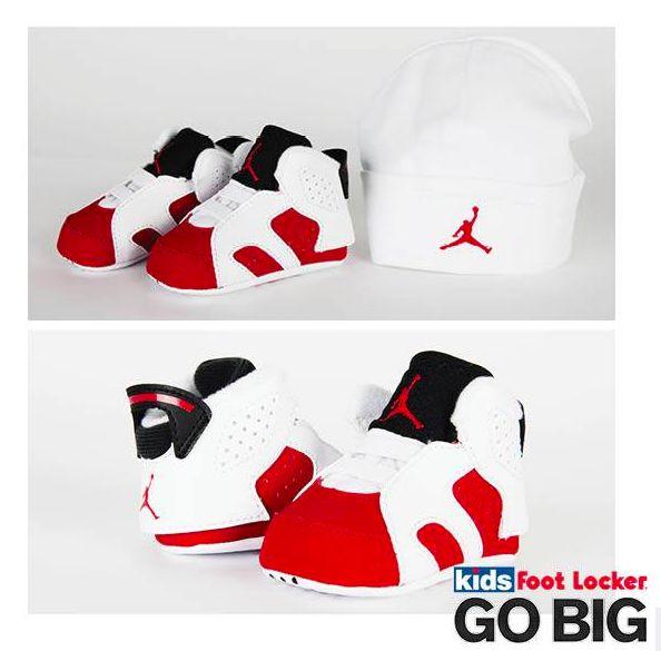 The Air Jordan Retro 6 'Carmine,' for the babies!