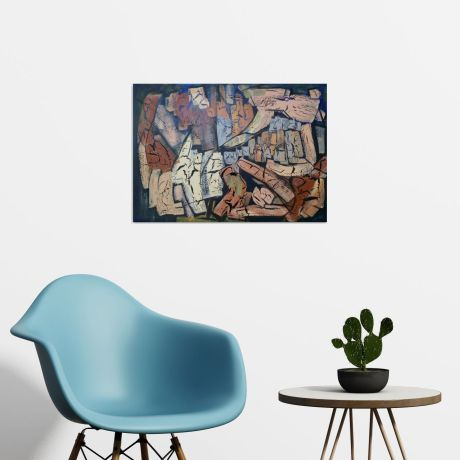 #abstract #cubism #contemporary #art #painting #original #modern
