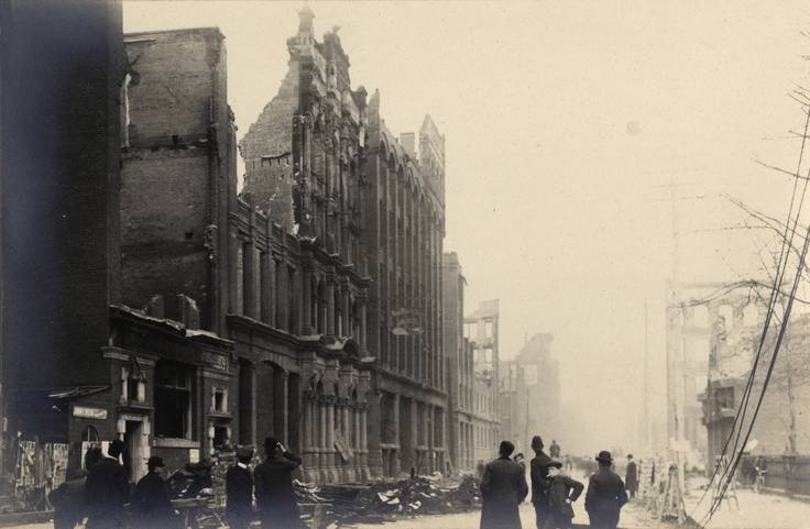Aftermath of the Great Toronto Fire (April 19, 1904): Wellington St. West, looking east towards Bay St.