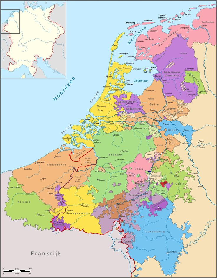 Political Map of the Low Countries in 1350