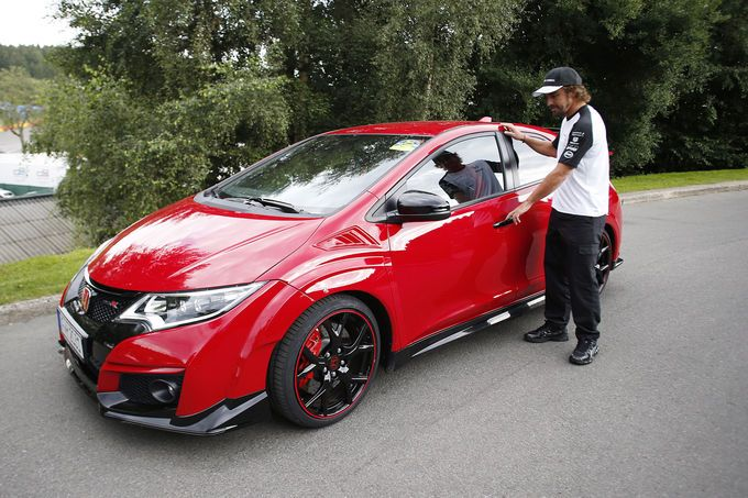 Fernando Alonso - Honda Civic Type-R McLaren - GP Belgien 2015