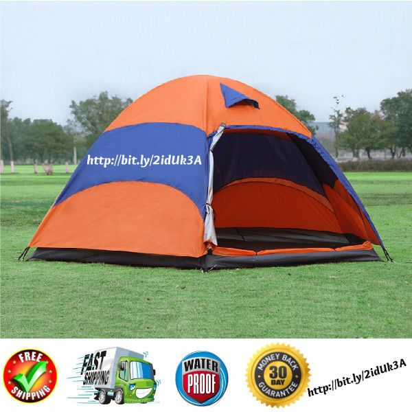 5-8 Persons Waterproof 4 Seasons Double Layer Instant Family  Camping Dome Tent #FamilyCampingDomeTent #Dome