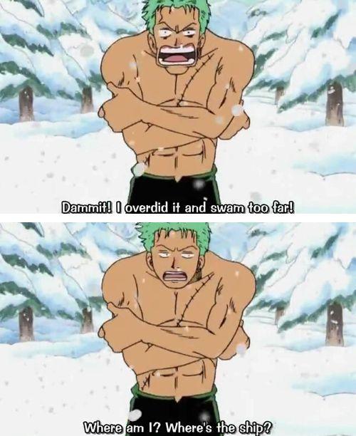 One Piece anime_ Funny, ridiculous Zoro